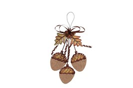 Metal Full Acorn Cluster Sign  - $8.44