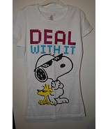 Peanuts Juniors T Shirt Size S M NWT Deal With It  - $12.99