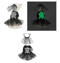 Glow in the Dark Skeleton Zombie Dog Black Costume Dresses - Scary But C... - $26.63+