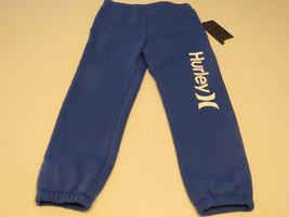 Boy's Hurley fleece sweat pants 6 Lyon blue royal 881813-U82 surf skate NWT - $59.39