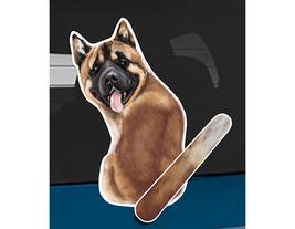 Akita dog rear window wiper wagging tail sticker - $12.99