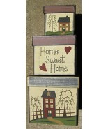B15HSH- Home Sweet Home s/3 Boxes Paper Mache' - $19.95