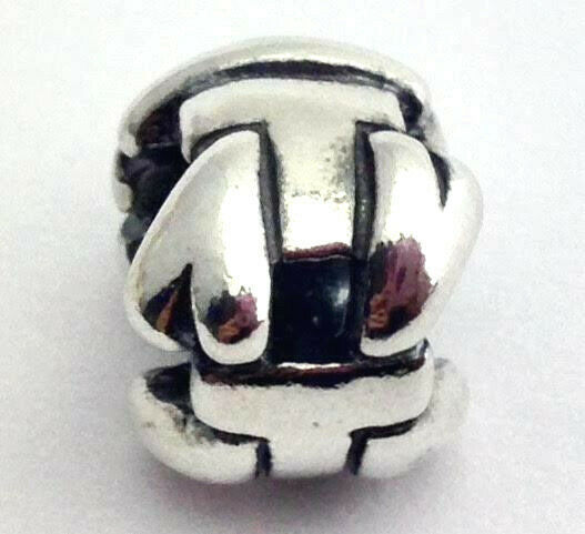 "Primary image for Authentic Trollbeads  Letter ""T"" Sterling Silver Charm 11144T, New"