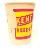 Kent Feeds Vintage Paper Cup 1950s Advertising ... - $9.95