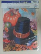 NEW Decorative Flag Seasonal Fall Pilgrim Pumpkin Acorn Bird Garden Patio Porch - $5.77