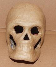 """Halloween Paper Mache Skull 3D 3"""" x 5 1/2"""" Darice 85N - $7.50"""