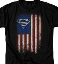 Superman T-shirt Patriotic Old Glory DC Comics retro graphic tee SM2501 image 3
