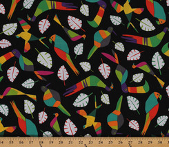 Cotton Rio Toucan Birds Leaves Cotton Fabric Print By the Yard D575.61 - $11.95
