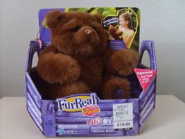 NEW FurReal Luv Cubs Baby Brown Bear Bottle 4+ Hugs Back Plays Hasbro - $18.29