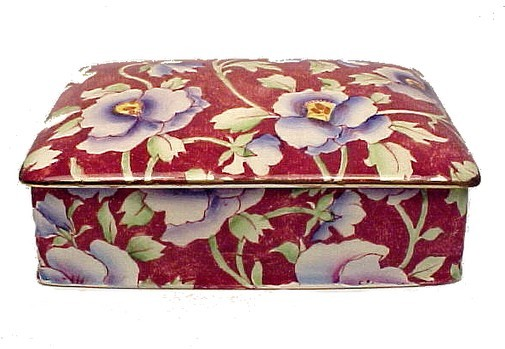 Grimwades Royal Winton June Festival Chintz Candy Dish Cigarette Box