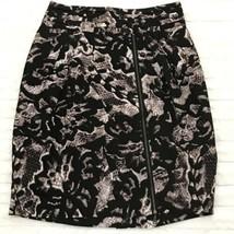 Banana Republic Pencil Skirt Size 2 Black & Brown Snake Print High Waist - $18.99