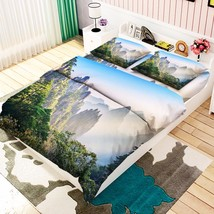 3D Mountains 018 Bed Pillowcases Quilt Duvet Cover Set Single Queen King Size AU - $90.04+