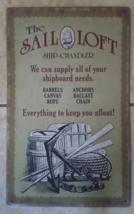 Metal Wall Sign Sail Loft Nautical Anchor Barrels  - $24.99