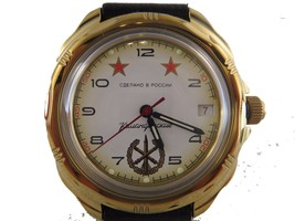 Vostok Komandirskie 219075 /2414a Military Russian Watch Special Forces White - $43.11