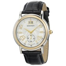 Romanson Two-Tone Men's Classic TL3587BM1CAS1G Swiss Quartz Luxury Dress Watc... - $134.83