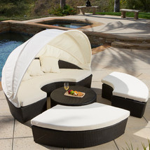 NEW! Sancho Canopy 4 Piece Lounge Seating Group with Cushions - $2,554.84