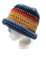 100% Wool Crochet Knitted Beanie Hat One Size Chunky Made in Boliva - $21.04