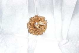 Vintage Sparrow On A Nest of Eggs Pin - $8.00