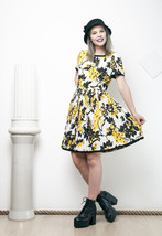 50s vintage pleated floral dress - $37.49