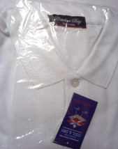 Men's Catalina Bay Casual White Shirt Size MEDIUM/LARGE Short Sleeves Co... - $14.95