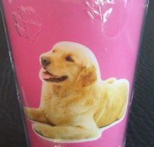 DOG LOVERS CUP Golden Retriever Double Wall Insulated w/ Straw Pink Plastic NEW image 4