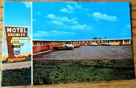 Knowles Motel Moose Jaw Saskatchewan Canada Vintage 1960s? Unused Postcard - $5.00