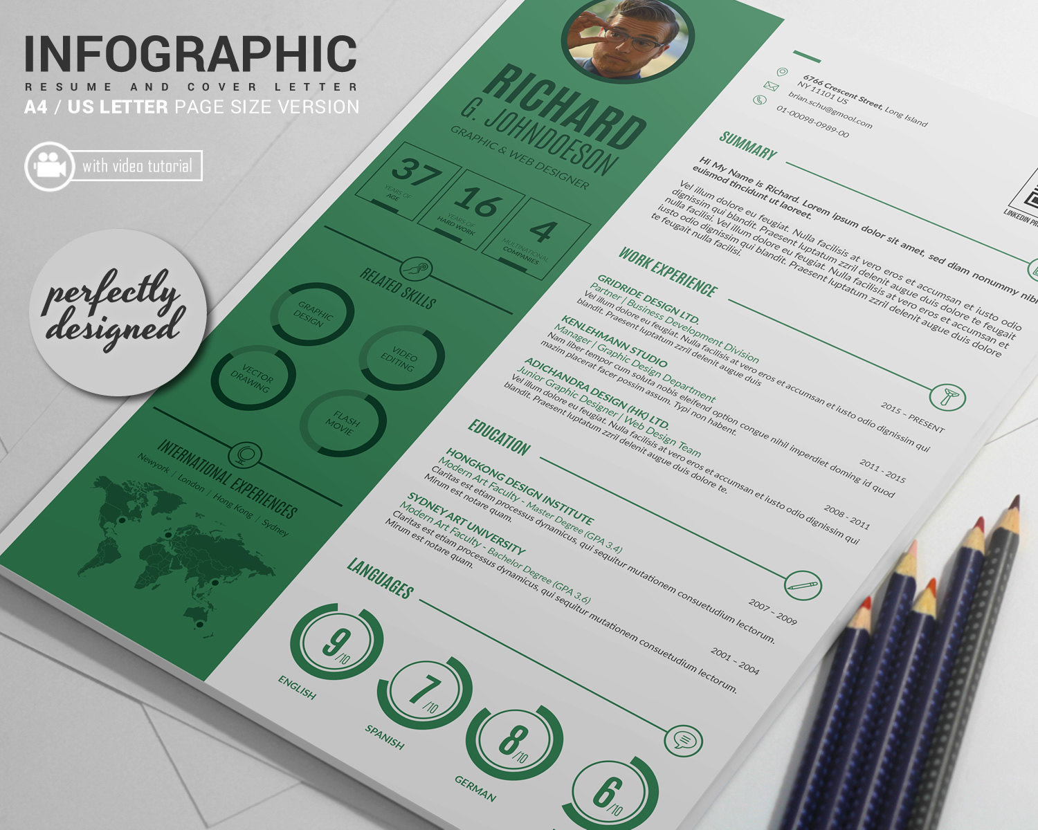 Infographic cv template word