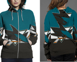 San jose shark hoodie zipper fullprint for women thumb155 crop