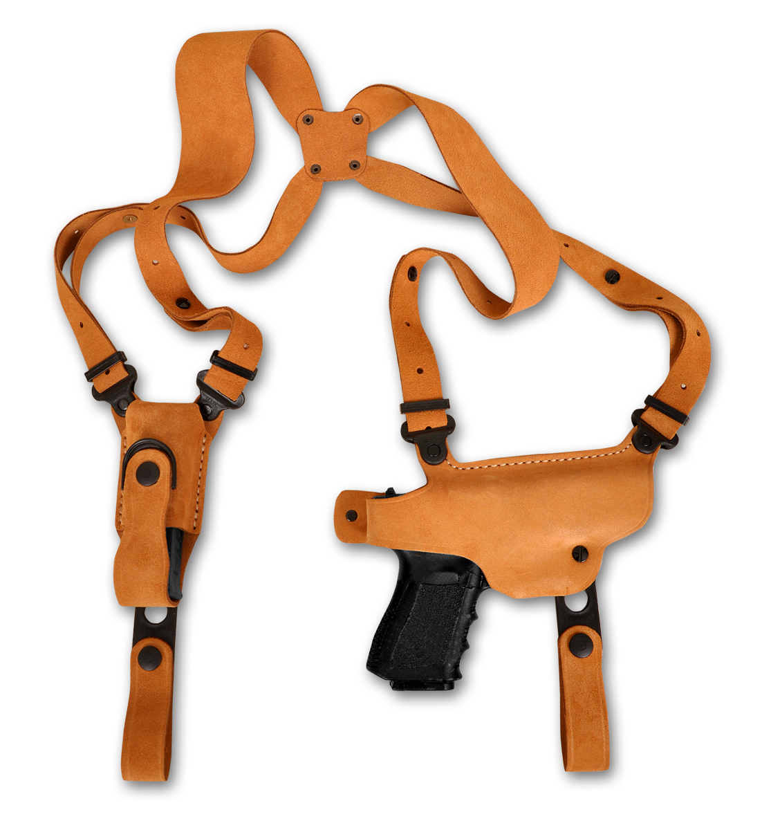 Primary image for Nubuck Leather Shoulder Holster Single Carrier For BERETTA PICO 380 ACP 2.7''BBL