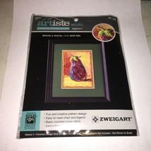 Zwiegart   NEW Counted Cross Stitch Kit EGGPLANT  Artiste Mini  1atk - $5.28