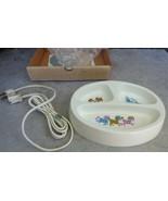 Hankscraft Hot 'N' Cold Electric Feeding Dish 488 Heated Baby Plate Vint... - $15.00