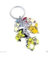 Pokemon Pikachu Minun Plusle Keyring 5 pendant Metal Keychain - $8.66 CAD