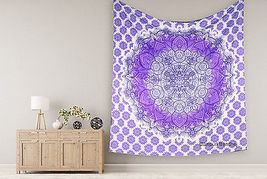 Indian Feather Purple Tapestry Hippie Wall Hanging Boho Ombre Mandala B... - $346,18 MXN