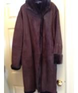 Linda Allard Ellen Tracy Winter suede coat 100% leather size 16 fit 18-20 - $381.15