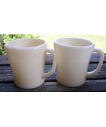 2 Fire-king PHILBE Ivory Flat Bottom Mugs - $48.51