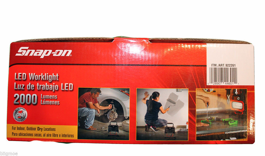 Snap On Portable Work Light 2000 LUMENS 46 LED 25W Indoor Outdoor NEW Lights