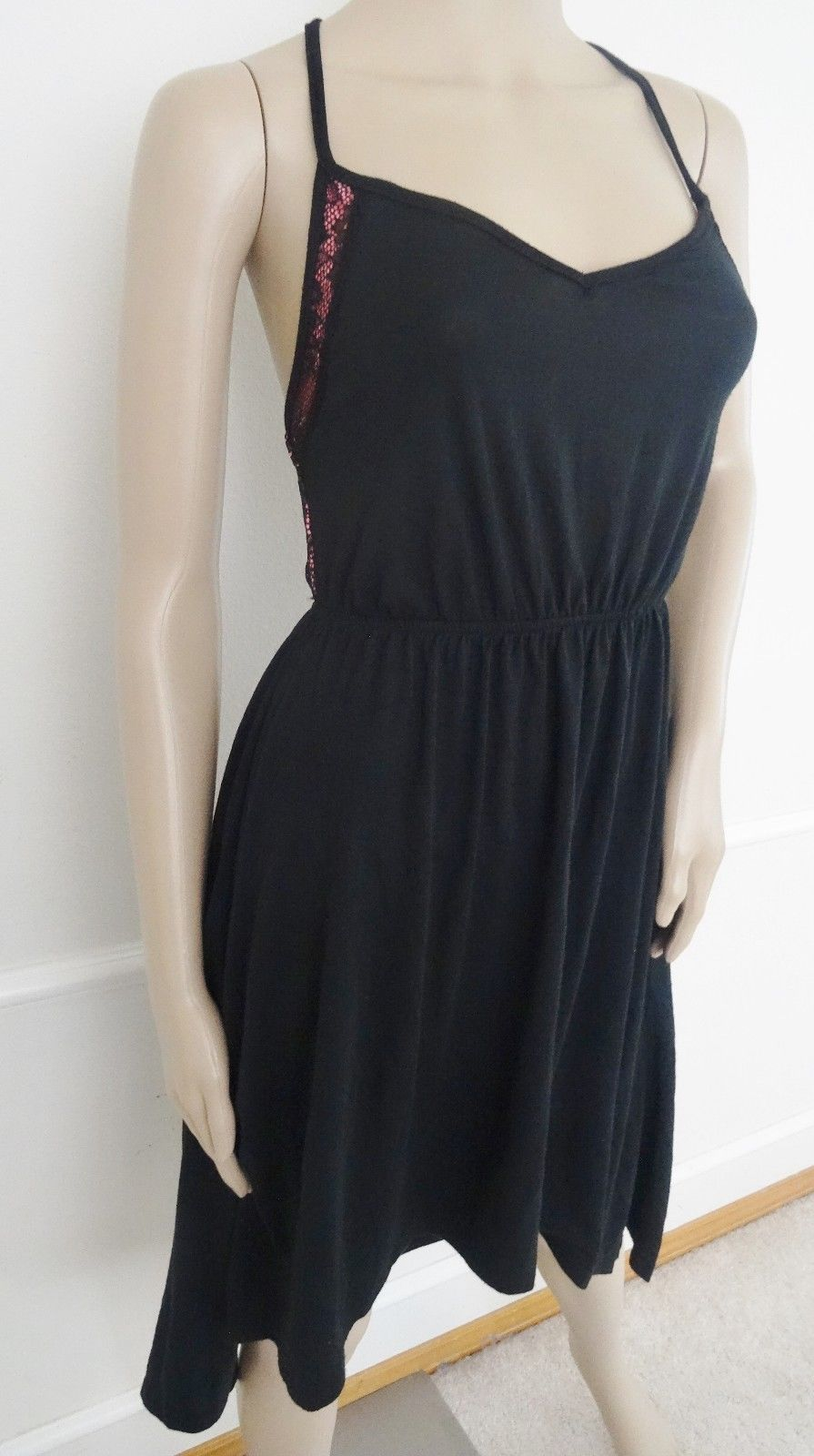 Nwt Planet Gold Cocktail Party Hi Low Dress Sz S Small Juniors Black Crocheted