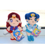 Sailor Mars Sailor Mercury plush doll stuffed toy Japanese sailor moon - $18.80