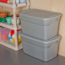 6 Plastic Storage Box Sterilite 30-Gallon Container Bin Tote Lid Set of ... - $89.09