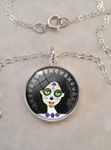 Sterling Silver Small Pendant Sugar Skull Girl ... - $30.00 - $50.00