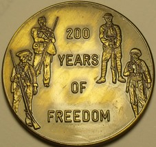 Huge 38.5mm Gem Unc 1976 Bronze Medallion~200 Years Of Freedom~Free Ship... - $12.63