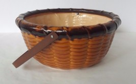 Ceramic Corn Bowl with Metal Handle Thanksgiving Fall - $9.89