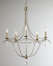 Horchow  Antique Silver Murano Glass Drops Beaded Candle Chandelier $970 - $688.05