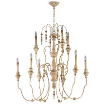 "37"" Aidan Gray Horchow Look French Iron French White Large Beaded Chandelier - $839.03"
