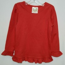 Blanks Boutique Long Sleeve Ruffled Shirt Color Red Size 3T image 1