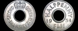 1954 Fiji Islands Half 1/2 Penny World Coin - $7.99