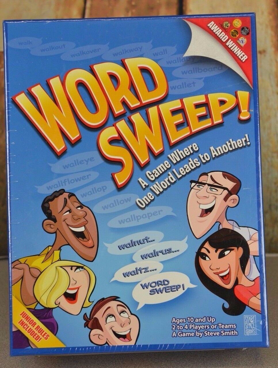 Primary image for Word Sweep Board Game New Sealed Award Winning Fun Family Night Rare