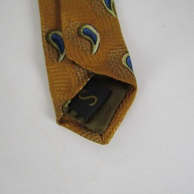 Robert Talbott Studio Men's Neck Tie Hand Sewn 100% Silk Golden Water Drops