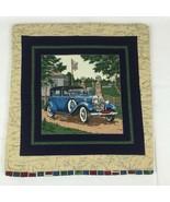Vintage Classic Car Quilt Cushion Cover Pillow Case Cotton Lined Log Cab... - $16.74