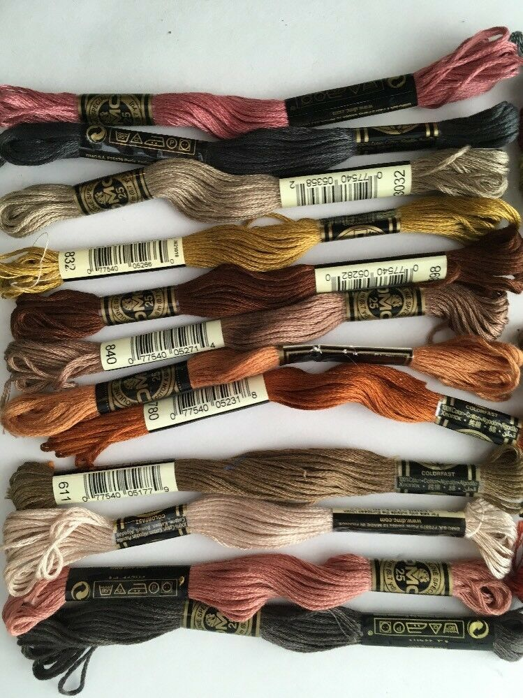24 Skeins DMC 6 Strand Embroidery Floss Many Colors NEW